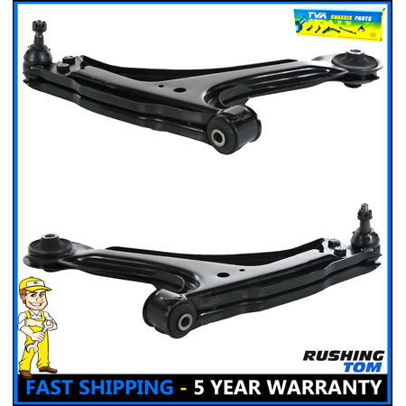 2 New Front Lower Control Arm W/ Bushings And Ball Joints Left & Right Side Kit ()