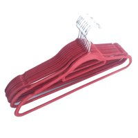 10pcs Non-Slip Flocked Adult Clothes Hangers 360 Degree Swivel Notched Shoulders Coat Trousers Hanger