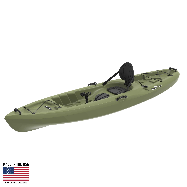 Lifetime Weber 11' Sit On Top Fishing Kayak, Light Olive, 90609