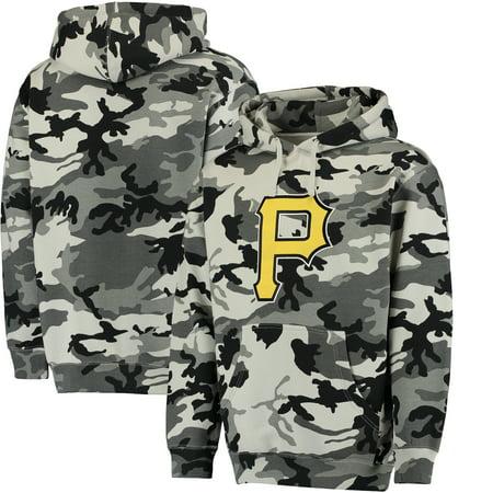 big sale c2a4a 9921b Pittsburgh Pirates Stitches Pullover Hoodie - Black/Camo