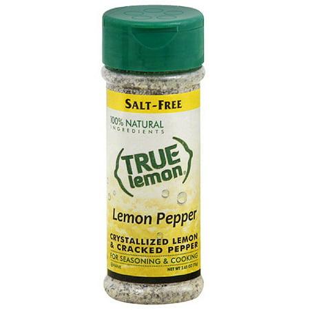 True Lemon Lemon Pepper Crystallized Lemon & Cracked Pepper Seasoning, 2 65  oz, (Pack of 6)