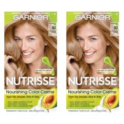 (2 pack) Garnier Nutrisse Nourishing Hair Color Creme, 82 Champagne Blonde (Champagne Fizz)