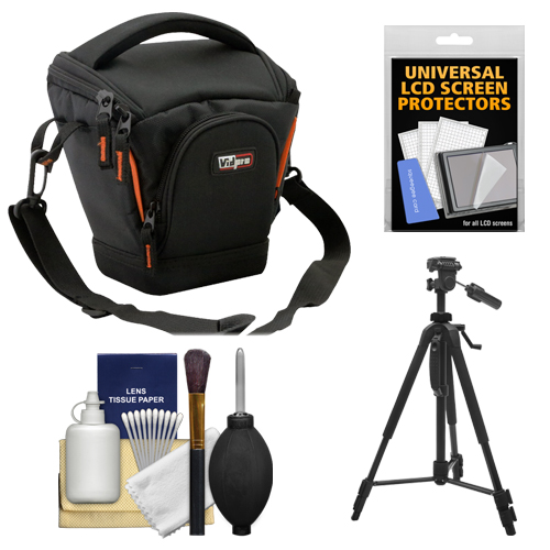Vidpro TL-25 Top-Load DSLR Camera Holster Case (Small) with Tripod + Accessory Kit