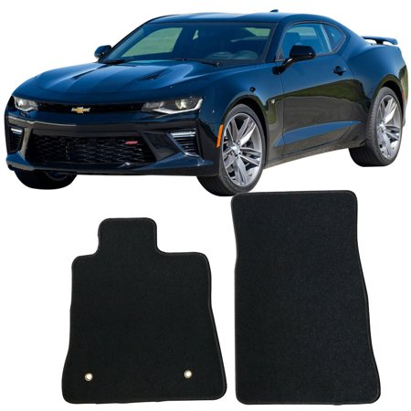 Fits 16-19 Chevy Camaro Floor Mats Carpet Front & Rear Black 2PC - -