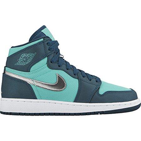 big sale 9ba9d 5378a  64.38 (walmart). Nike 332148-318  Girl s Air Jordan 1 Retro High GG  Basketball Shoe ...