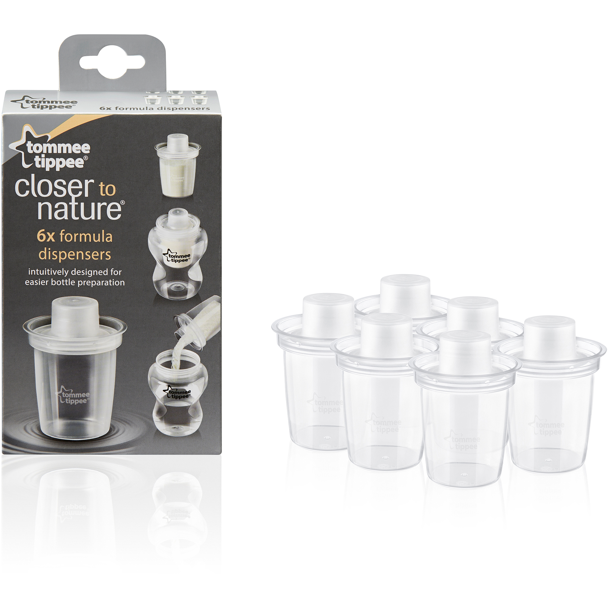 Tommee Tippee Closer to Nature Formula Dispenser, 6-Count