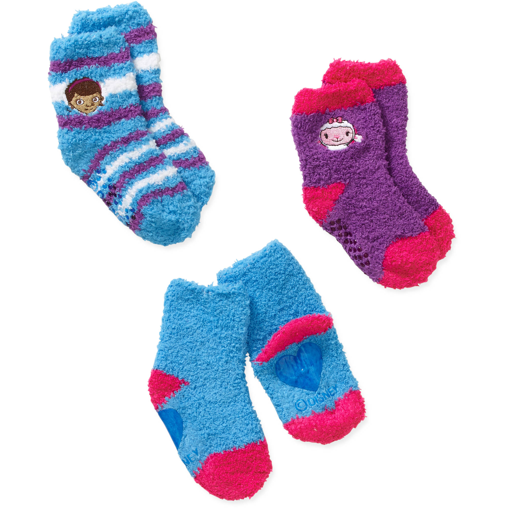 Doc McStuffins Baby Toddler Girl Quarter Softee Socks - 3 Pack