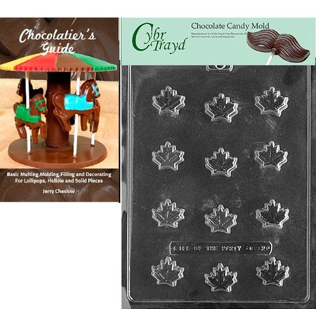 Cybrtrayd Maple Leaf Chocolate Candy Mold with Our Chocolatier