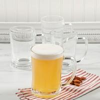 f26946839 Product Image 4 Pack Traditional Pub Stein Glass Beer Mug - 203Oz. Tankard  Beer Mugs
