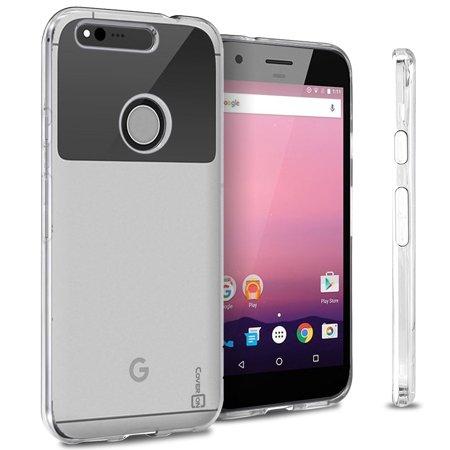 CoverON Google Pixel XL Case, FlexGuard Series Soft Flexible Slim Fit TPU Phone Cover
