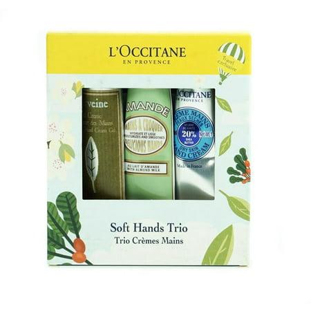 L'Occitane Soft Hands Trio 3 Piece Gift Set Hand Cream Trio