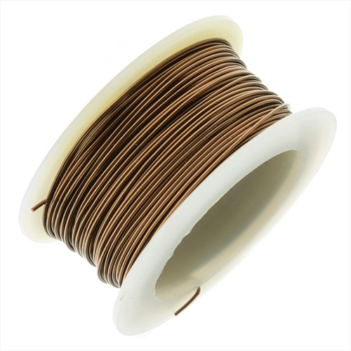 Artistic Wire, Copper Craft Wire 22 Gauge Thick, 8 Yard Spool, Antiqued Brass