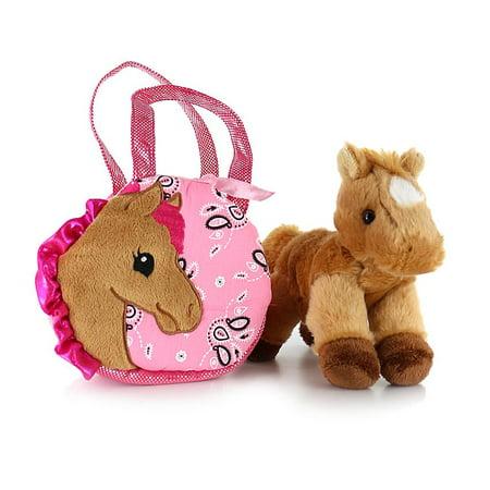 - Pretty Pony Fancy Pal with Horse - Stuffed Animal by Aurora Plush (32766)