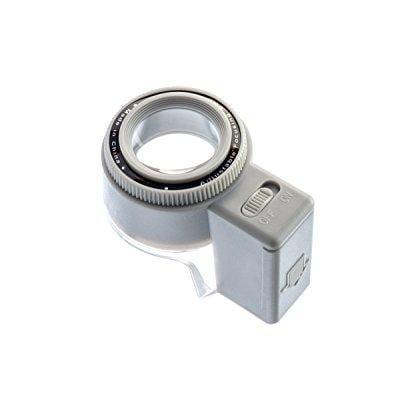 Black//Silver LED-Illuminated SE MJ37801L Professional Quality 10x Triplet Loupe 21mm