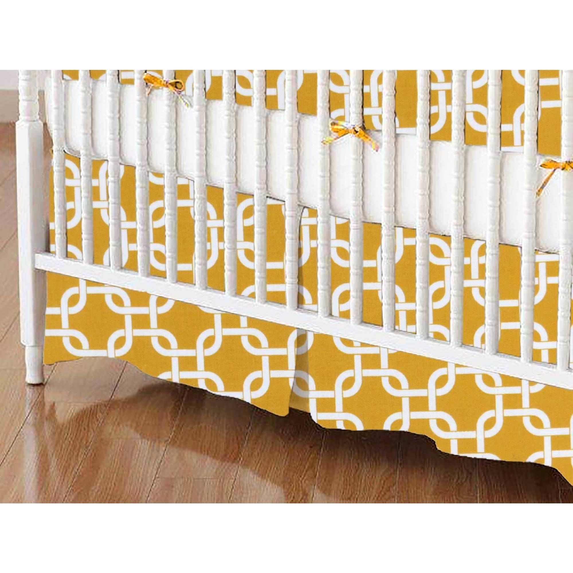 SheetWorld Crib Skirt - Mustard Yellow Links