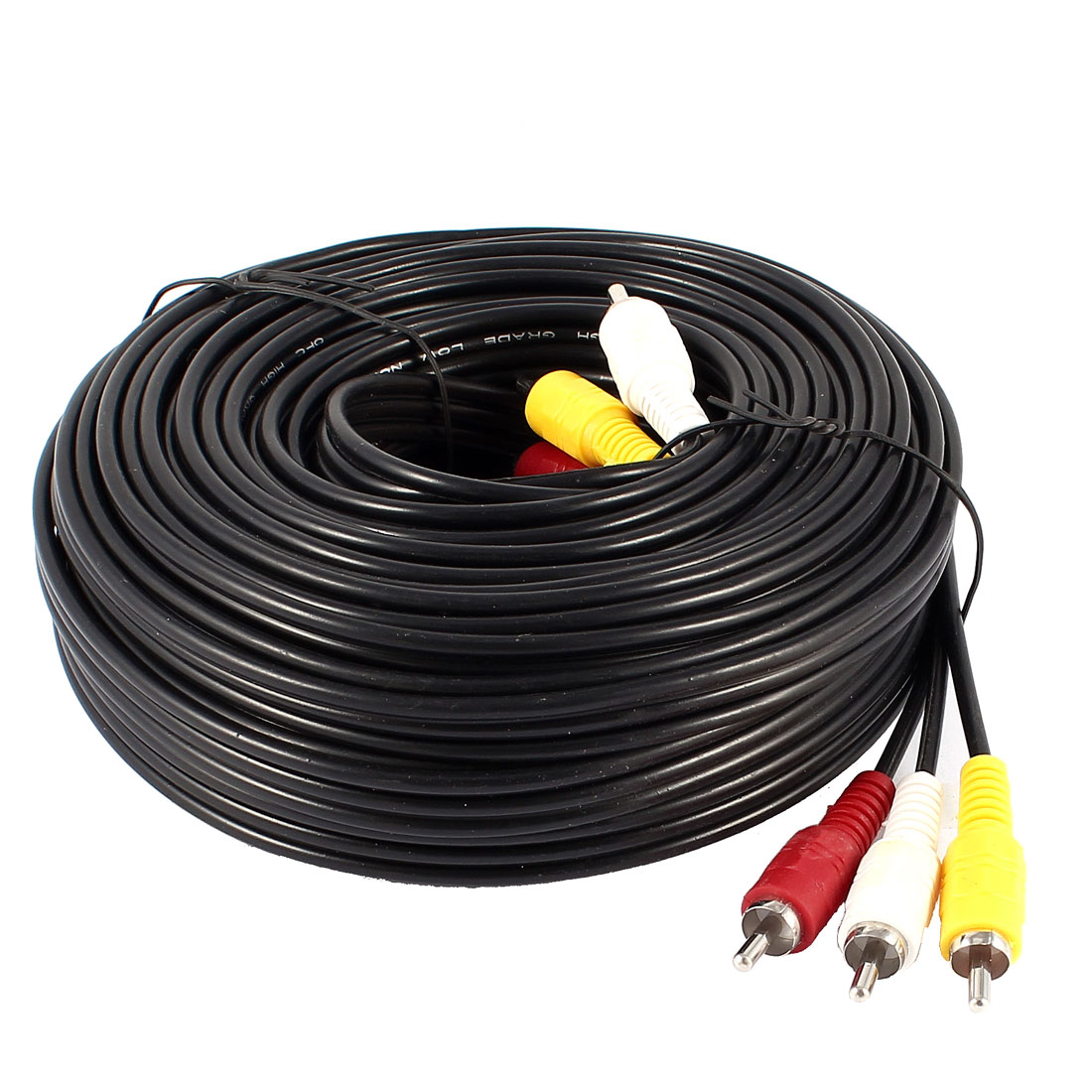 Unique Bargains 50ft 15M Length AV Audio Video Adapter Cord 3 RCA Male to 3 Male M/M Y Cable