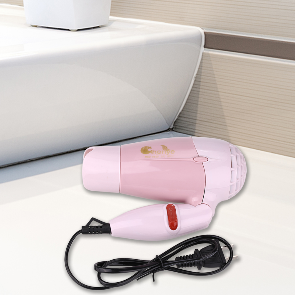EECOO Foldable Hair Dryer, Mini Folding Portable Travel Household Electric Hair Dryer 2 Gears Warm Hot Air 220V Hair Dryer