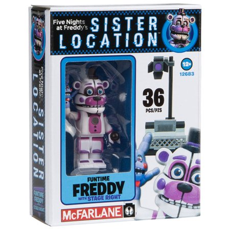 Box Set Mcfarlane Toys - McFarlane Toys Five Nights At Freddy's Spotlight Stage Right Construction Building Kit