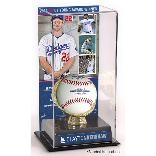 Clayton Kershaw Los Angeles Dodgers Fanatics Authentic 2014 National League Cy Young Award Gold Glove with Image Display Case - No Size