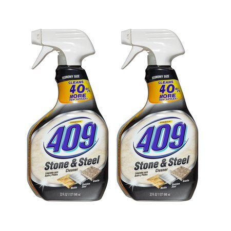 (2 Pack) Formula 409 Stone and Steel Cleaner, Spray Bottle, 32 oz