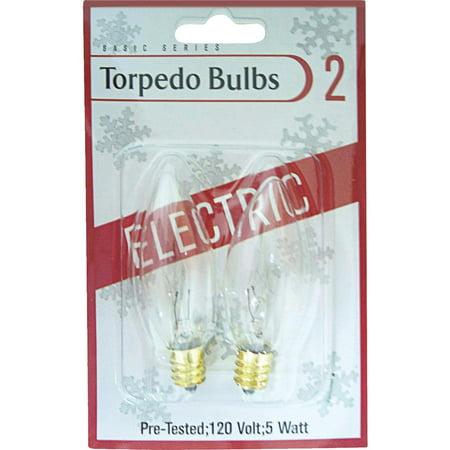 - J Hofert 2 Pack Clear Torpedo Bulb 1408-02