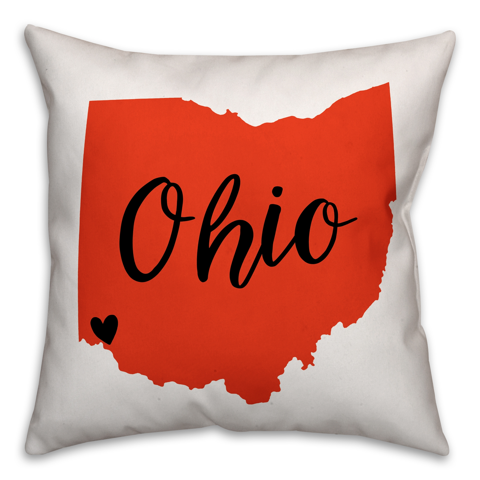 Orange and Brown Ohio Pride 16x16 Spun Poly Pillow