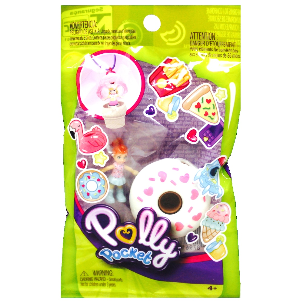 Lila with a Chocolate Donut Ring Polly Pocket Tiny Takeaway