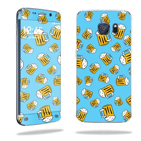 MightySkins Protective Vinyl Skin Decal for Samsung Galaxy S6 Edge wrap cover sticker skins Beer Tile (Edge Beer)