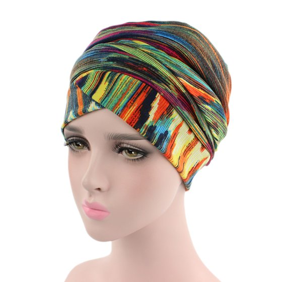 Mosunx Women India Muslim Elastic Turban Print Long Tail Hat Head Scarf  Wrap - Walmart.com f7f59c88eb6