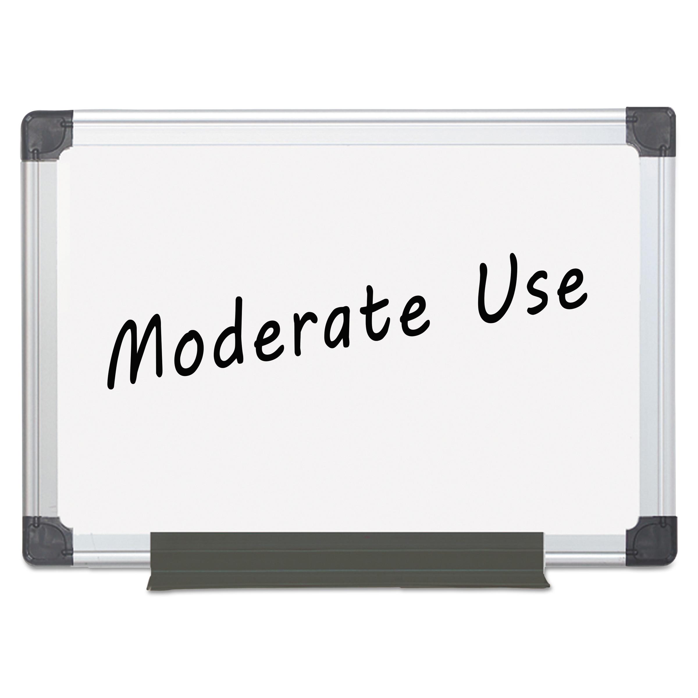 MasterVision Value Melamine Dry Erase Board, 18 x 24, White, Aluminum Frame