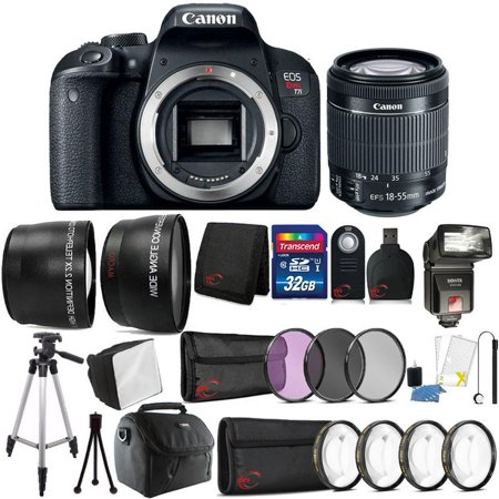 Canon EOS Rebel T7i 24.2MP Digital SLR Camera with 18-55mm Lens , TTL Flash and