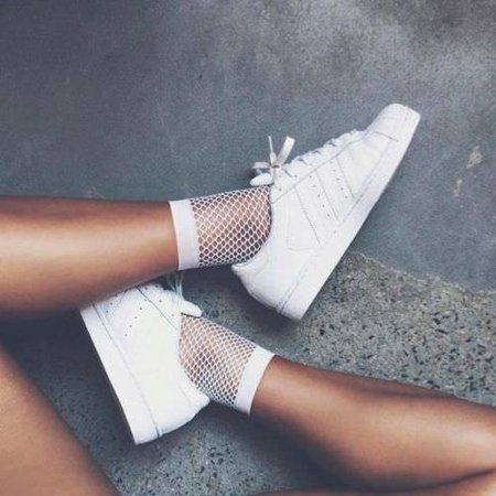Fashion Women Ruffle Fishnet Ankle High Socks Mesh Lace Fish Net Short Socks