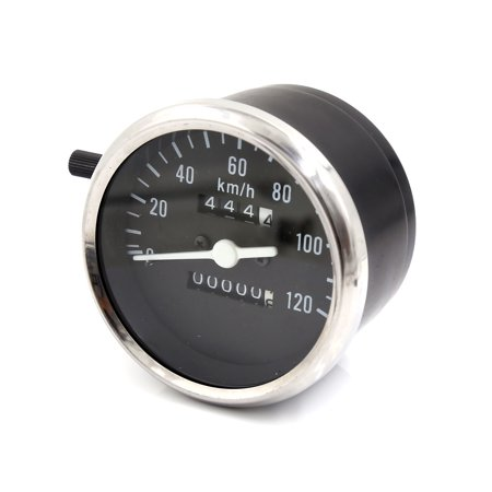 Unique Bargains Motorcycle Scooter Analog Daul Odometer Speedometer Gauge 0-120km/h for GN