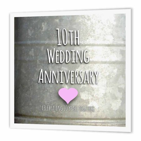 Rose 10th Wedding Anniversary Gift Tin Celebrating 10 Years Together Tenth Anniversaries Ten Yrs