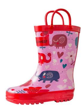 7c388f40f158 Product Image Oakiwear Kids Rain Boots For Boys Girls Toddlers Children -  Pink Elephants