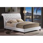 Baxton Studio Stella Queen Crystal Tufted Modern Bed With