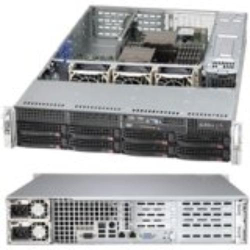 Supermicro Superchassis 825tq-r740wb [black] - Rack-mountable - Black - 2u - 10 X Bay - 3 X Fan[s] Installed - 2 X 740 W - Eatx Motherboard Supported (cse-825tq-r740wb_3)