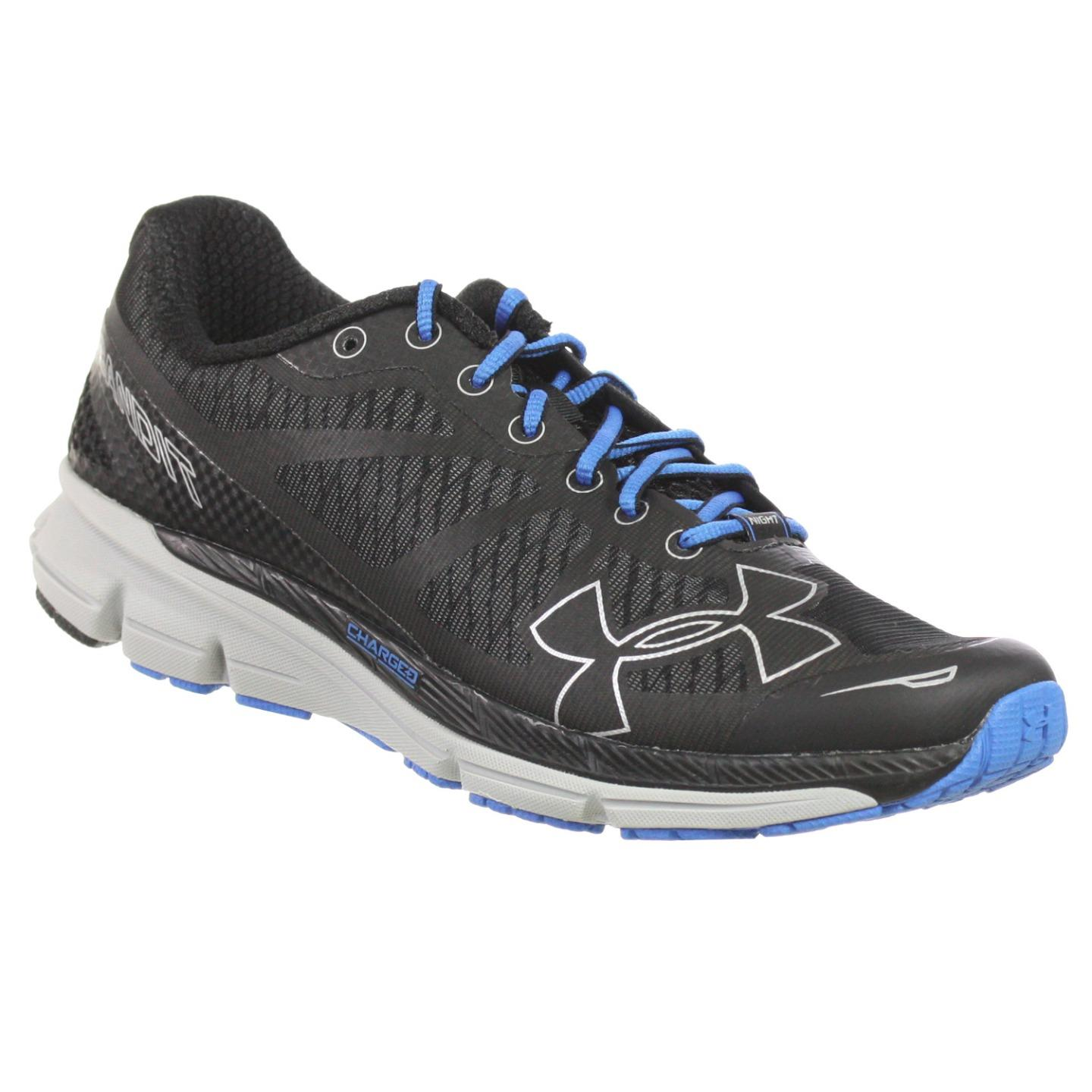 3754aba4800f UNDER ARMOUR MENS ATHLETIC SHOE CHARGED BANDIT NIGHT BLACK SILVER GREY  ROYAL 7 M