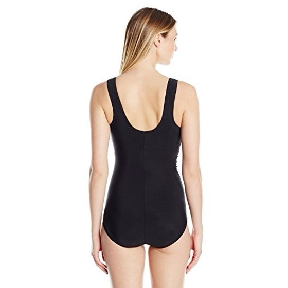 5599546ea041e Engineered printed high neck soft cup constructed slenderizing wit  anti-microbial lining Reebok Women's Desert Rays High Neck Constructed One  Piece Swimsuit ...
