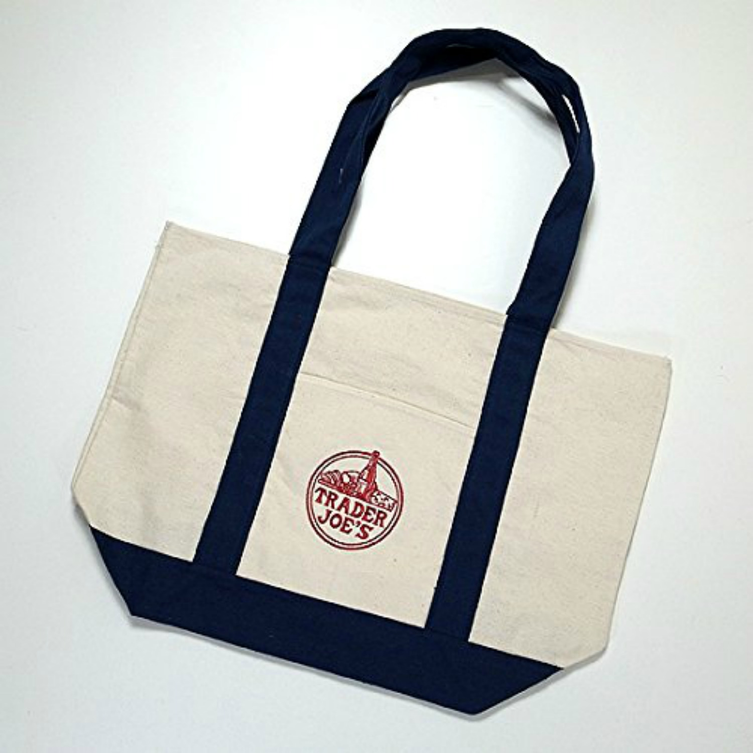 Super Reusable Fashion Tote Bag From Trader Joes. Heavy-duty Cotton  HP88