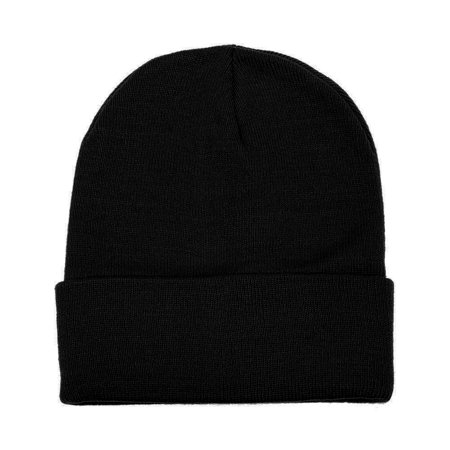 Falari Unisex Beanie Cap Knitted Warm Solid Color Black - Etnies Mens Beanie