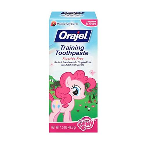 Orajel Toddler My Little Pony Training Toothpaste, Pinky Fruity 1.5 oz (Pack of 3)