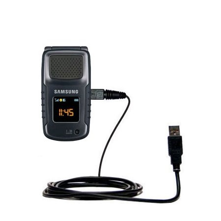 Classic Straight USB Cable suitable for the Samsung Rugby II III with Power Hot Sync and Charge Capabilities