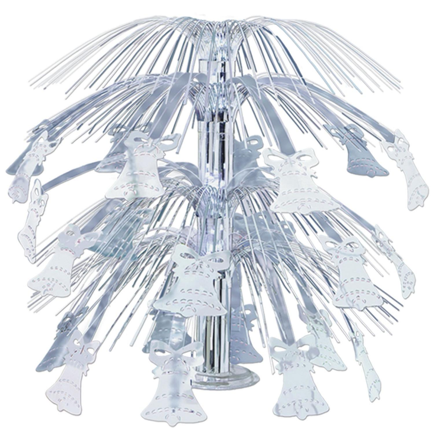 Pack of 6 Silver Metallic Bell Cascade Centerpiece Wedding Decorations 18''