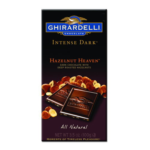 Ghirardelli Chocolate Intense Dark Hazelnut Heaven Chocolate, 3.5 oz