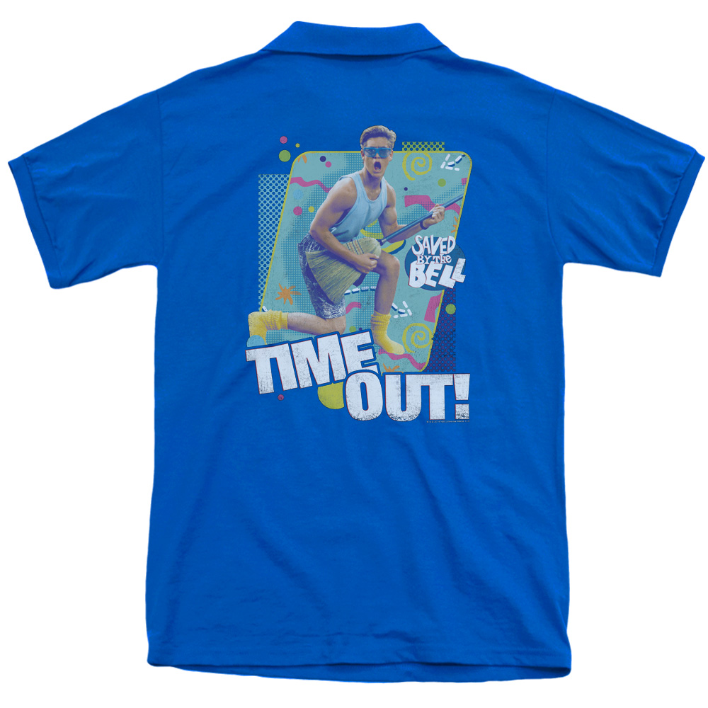 Saved By The Bell Time Out (Back Print) Mens Polo Shirt