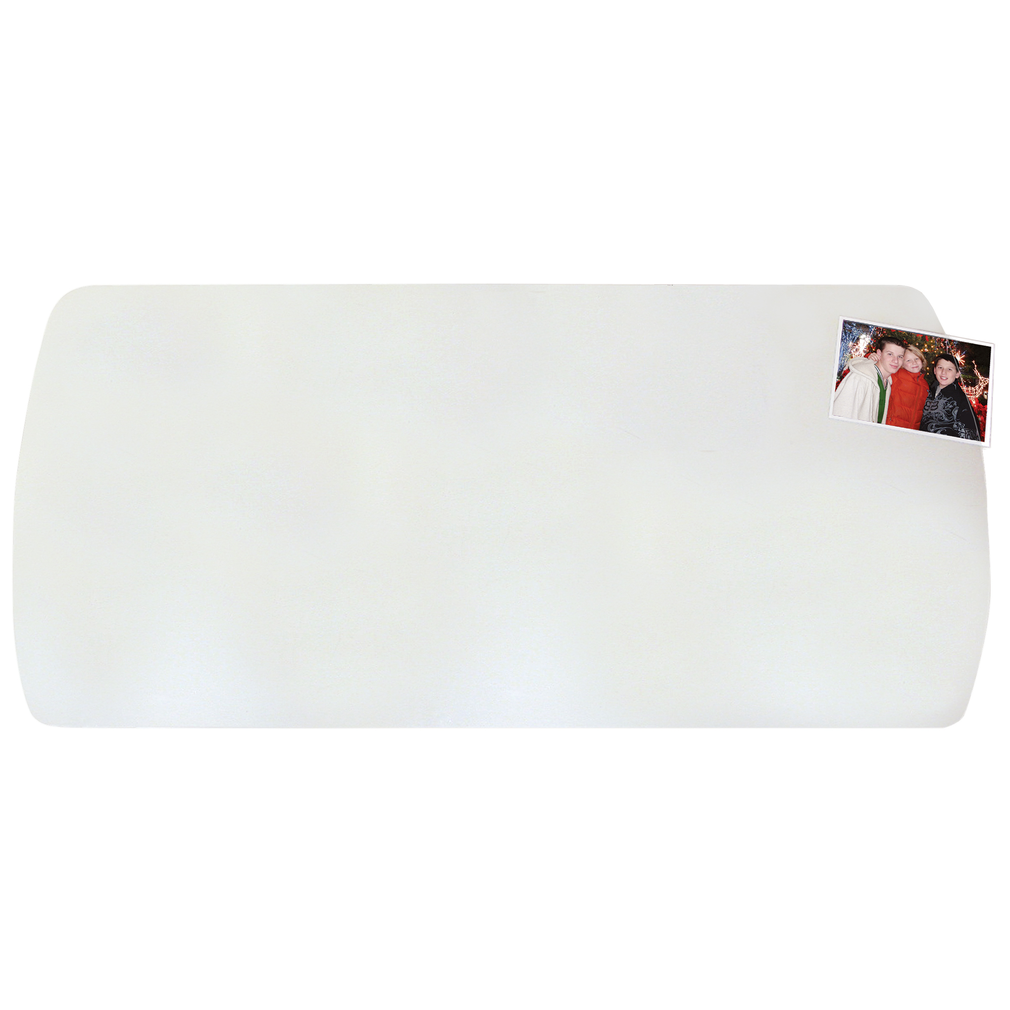 """14"""" x 30"""" Krystal View Desk Pad Curved for Workstations, Clear by Artistic Products"""