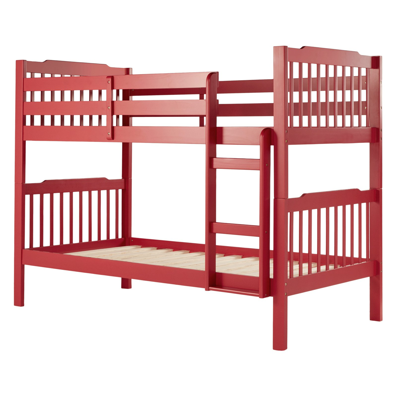 Chelsea Lane Slat Twin Over Twin Bunk Bed