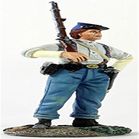 Federal Infantryman with Shirtsleeves with Shouldered - Toy Muskets