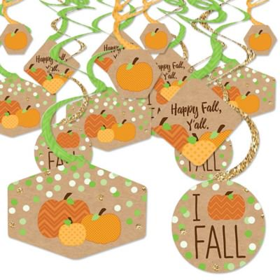 Fall Party Decorations (Pumpkin Patch - Fall or Halloween Party Hanging Decor - Party Decoration Swirls - Set of)